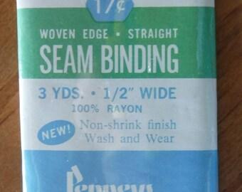 Penneys Yale Woven Edge Straight Rayon Seam Binding