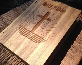 Bible Case Laser Engraved Wood Box