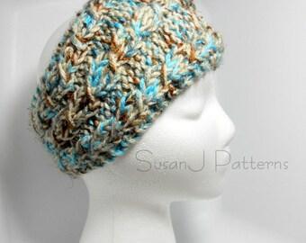 Cables Headband  - Knitting Pattern PDF