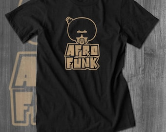 Afro Funk 70s T shirt tops and tees t-shirts t shirts  Free Shipping