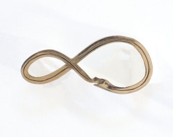 Ouroboros Snake Brooch Pin in Bronze