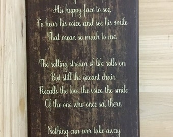 Memorial sign, loss of father, loss of dad, custom wood sign, memorial gift, sympathy gift,  religious wall art, Christian wall art