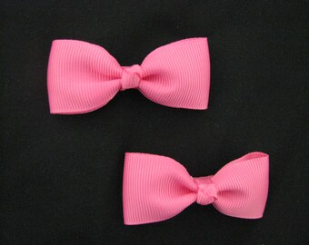 baby girl hair accessories hot pink bow clips small