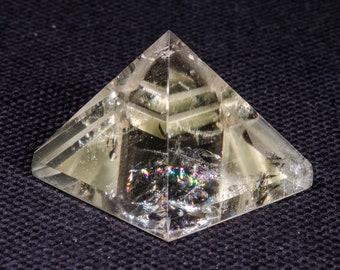 Clear Citrine Quartz Pyramid/Crystal Pyramid/Healing Crystal/Love Stone/Meditation/Healing Stones/Altar/Tumbled Quartz-37*30mm46g#4955