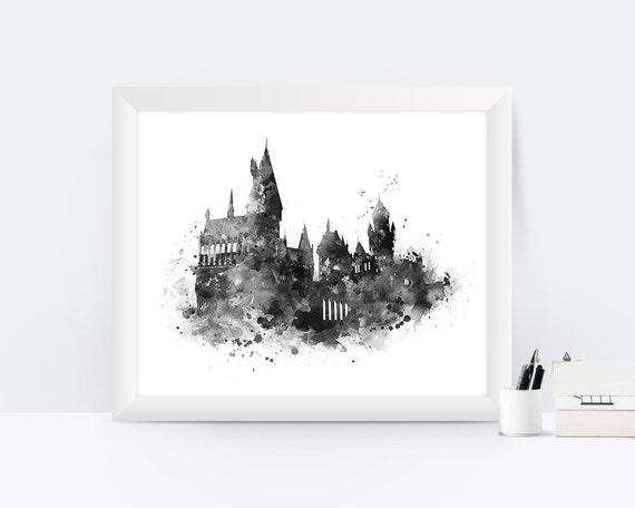 Hogwarts castle print hogwarts poster harry potter print