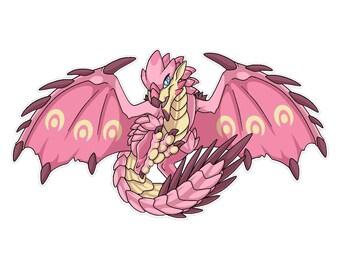 Pinkie Die: Monster Wyvern Vinyl Sticker