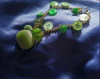 Emerald City Button Bracelet
