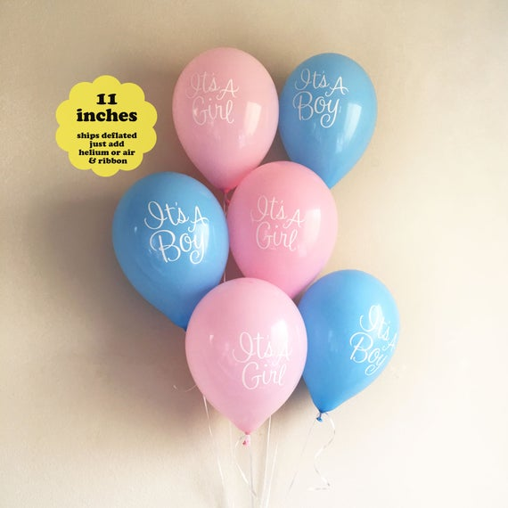 Twins Baby Shower Balloons 6 Pack 11 Gender Reveal