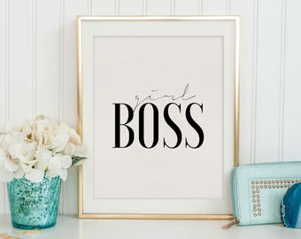 girly office. PRINTABLE Art, Girl Boss, Girly Print,Girls Room Decor,Gift For Her Office
