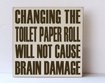 Humorous Signs Etsy - Bathroom signs for home