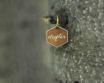 DRIFTER engraved pet tag // drifter dog tag // drifter cat tag // pet id tag // custom cat tag // custom dog tag // pet id tag