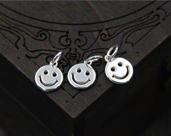 3 smiling face round charms necklace charms bracelet charms earring charms Jewelry diy accessories