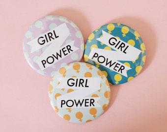 Jumbo Girl Power 2.25 Inch Button