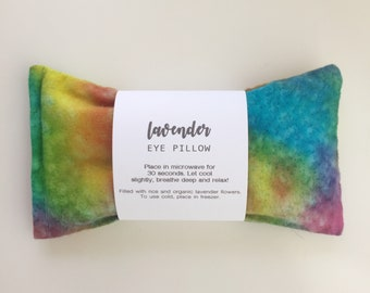 Lavender Eye Pillow, Relaxation Gift, Meditation, Aromatherapy Eye Pillow, Mothers Day Gift, Rice Pack, Yoga, Gift for Her, Spa Gift