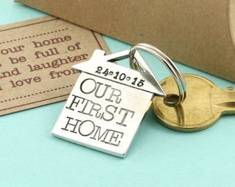 Our First Home Housewarming Gift-New Home Gift-First Home Gift-First House Gift-House Moving Gift-New House-Housewarming Keyring-Freind Gift
