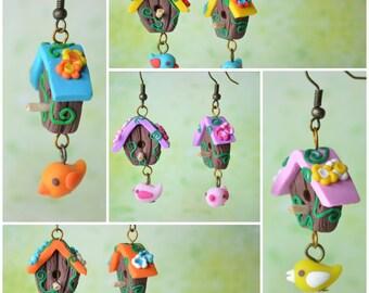 Romantic Birdhouse Earrings