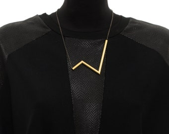 Bib Necklace Minimalist Statement Necklace For Her Gold Collar Necklace Geometric NecklaceBib Statement Necklaces For Women