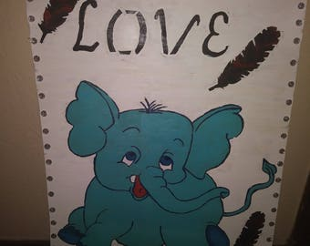 Love blue elephant
