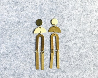 Brass Stud Earrings #26