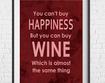 Wall Art - You Can't Buy Happiness - Digital Download