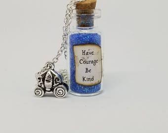 Cinderella, Have Courage Be Kind, Necklace, Fairytale, Disney, Cosplay