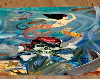 Pirate Mermaid Comfort Foam Floor mat available in 3 sizes