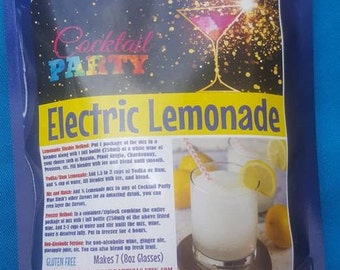 ELECTRIC LEMONADE Wine Slush| Margarita| Cocktail Party| Wine Gift| Gifts for 21| Wine Drinks| Birthday Gift| Gifts For Her| Drink In Hand