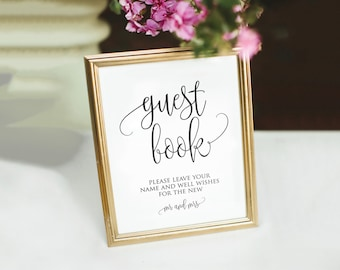 Printable Guest Book Sign|Wedding Sign|Wedding Decor |Printable Guest Book Sign Template|Editable Wedding Guestbook Sign|Please Sign|PDF