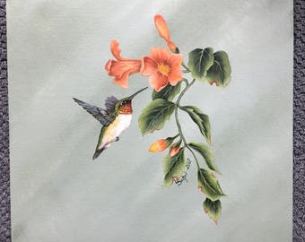 12x12 Hummingbird on Vine