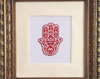 """Painting, a picture of beads, """"Hamsa"""""""