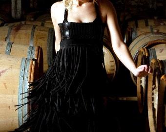Glamarita PARTY ALL NIGHT LONG Custom Swishy Fringe Dress All Sizes Available