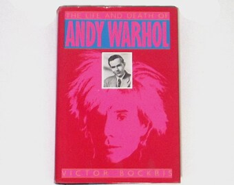 1980s biography book / 80s art book / andy warhol / Life and Death of Andy Warhol Book