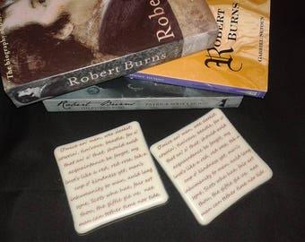 Robert Burns quotes coaster