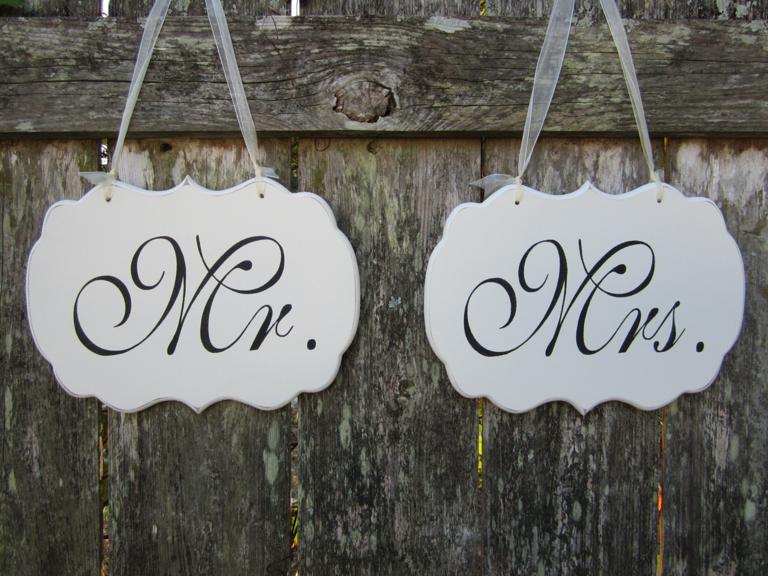 Mr and Mrs Wedding Chair Signs Wedding Chair Signs