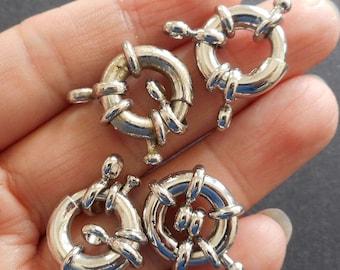 4pcs-silver tone spring wheel clasp, necklace wheel clasp