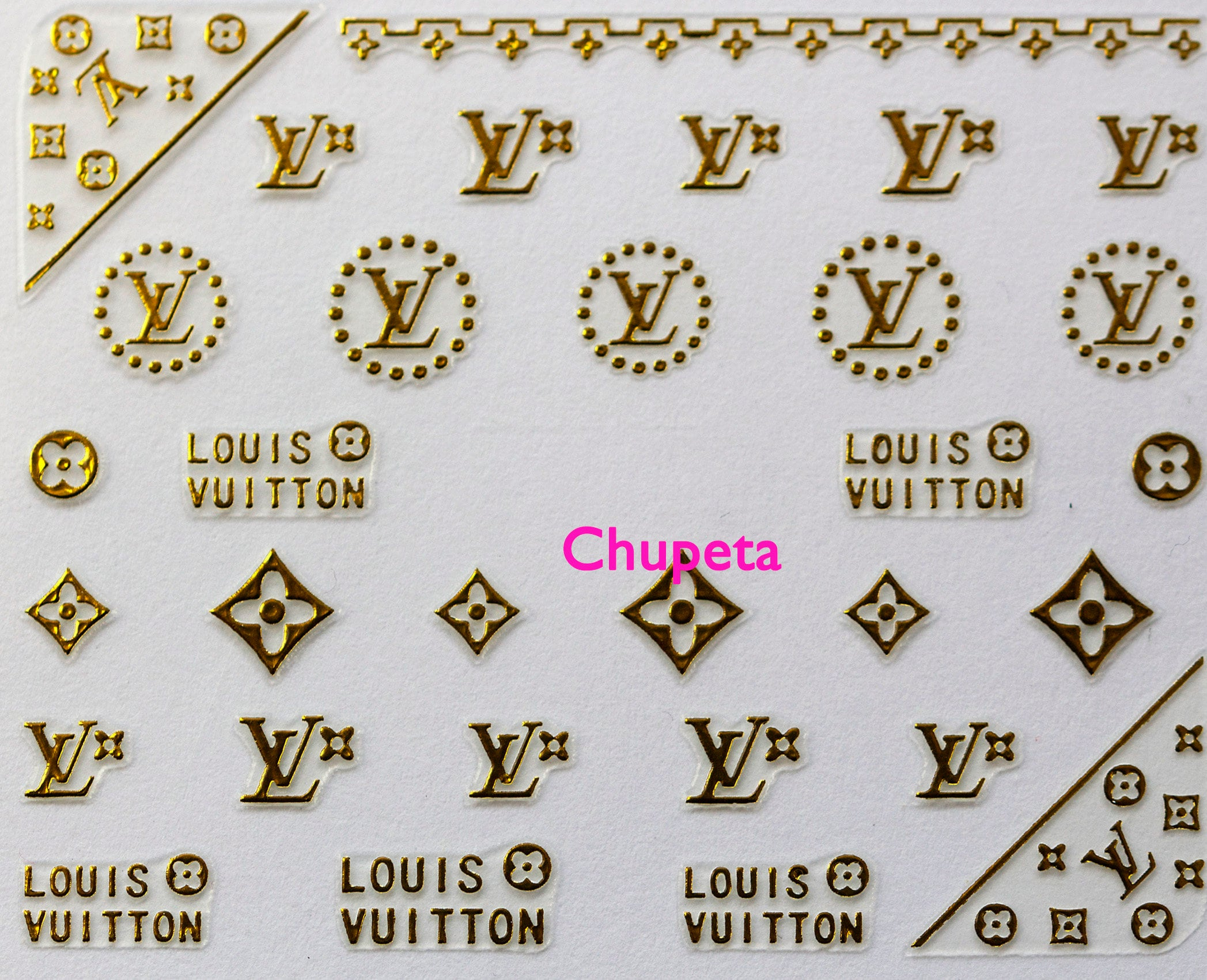 Nail Art Sticker stickers to decorate your nails with logo from ...