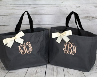8 Personalized Bridesmaid Gift Tote Bag- Bridesmaid Gift- Personalized Bridemaid Tote - Wedding Party Gift - Name Tote- Wedding