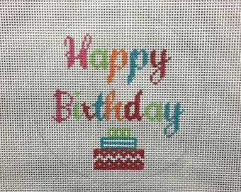 Hand Painted Happy Birthday Canvas by MyPinkSugarLife