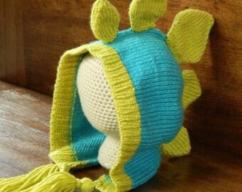 Knit Dinosaur Hat - Stegosaurus Pattern : Knitting Pattern, Knit Toddler Hat, Knit Child Hat