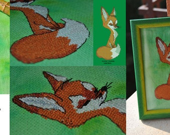 Fox cross stitch pattern, Fox cross stitch patterns
