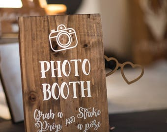 Photo Booth sign for wedding decor sign