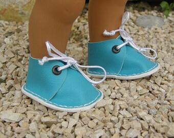 Turquoise Wichtel dolls shoes
