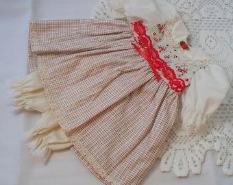 Handmade Doll Dress 18 inch doll dress Vintage Inspired Dress