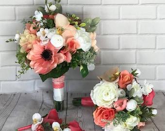 Peach coral wedding | Etsy