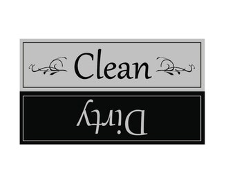 Clean/Dirty Dishwasher Magnet, Clean Dirty Magnet, Clean Dirty Diswasher Magnet