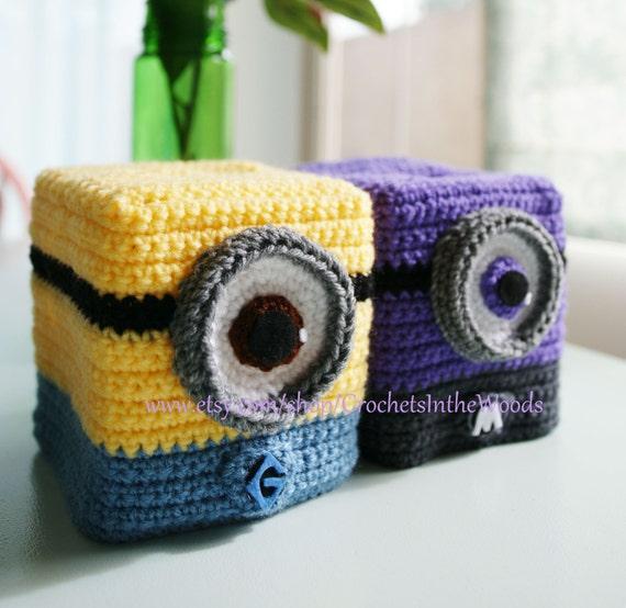 Items Similar To Minion Evil Inspired Crochet Kleenex Tissue Box