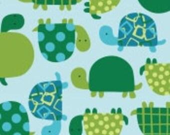 "Fleece,Turtle on light blue,Baums textile 60"" wide"