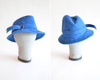 SALE / Vintage 1960s FUR felt hat