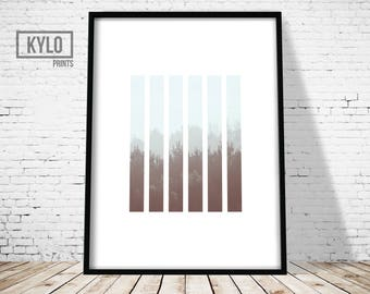 Forest Print, Minimalist Design Art Print, Modern Photography Print, Foggy Forest Art, Nature Abstract Art, Nature Print, Cloud Forest Print