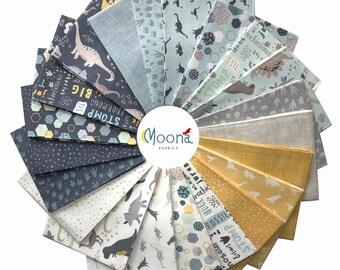 FOSSIL RIM Fabric, Fat Quarter Bundle, Riley Blake, Dinosaur Fabric, Boys Bundle,  Cotton Fabric, Quilting, Boys Quilt, 21 Fat Quarters